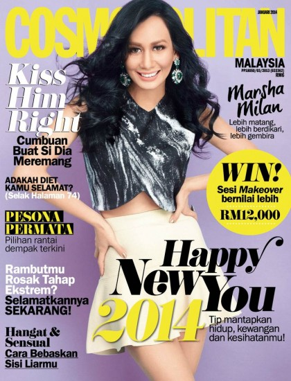January's Cosmopolitan Magazine Covers from all over the world