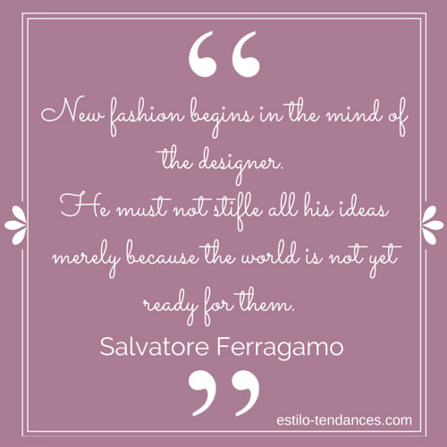Famous Fashion Quotes by Salvatore Ferragamo