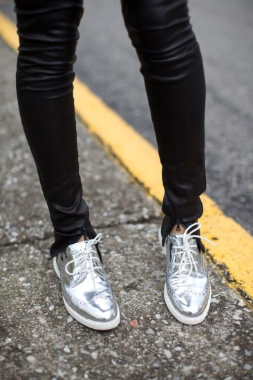 Cole Haan metallic lace ups